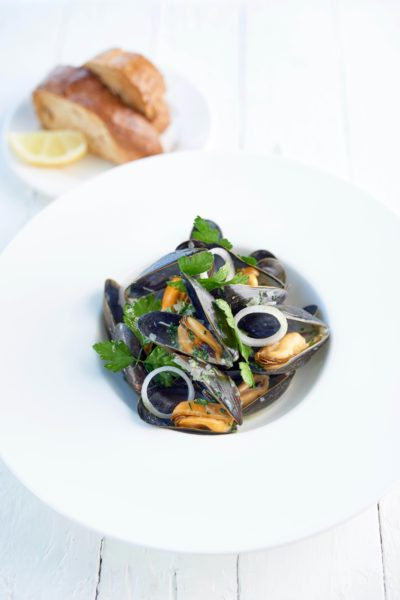 Cornish mussels at The Headland Hotel David Griffen