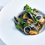Cornish mussels at The Headland Hotel