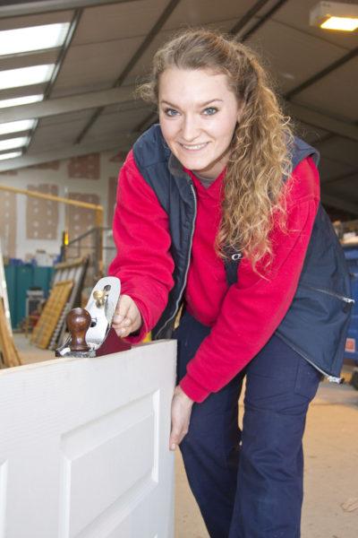 Ocean Housing Group carpentry apprentice, Daisy Herdman. Teresa Appleton