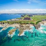 The Headland Hotel overlooking Fistral Beach in Newquay
