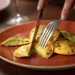 Freshly cooked ravioli at The Abbeville in Clapham.