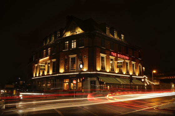 The Bedford in Balham at night Johnny Stephens