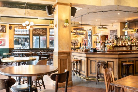 The main bar at The Bedford in Balham Johnny Stephens