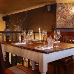 Upstairs dining area at The Abbeville in Clapham.