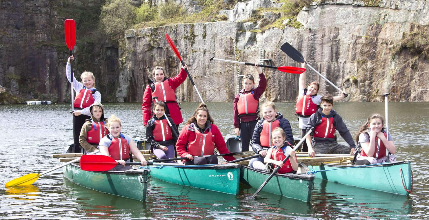 Young tenants of Ocean Housing enjoying canoeing at BF Adventure. Teresa Appleton