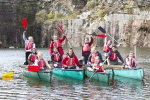 Young tenants of Ocean Housing enjoying canoeing at BF Adventure. Teresa Appleton