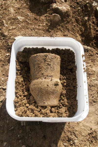 The beaker found at Halwyn Meadows. Legacy Properties