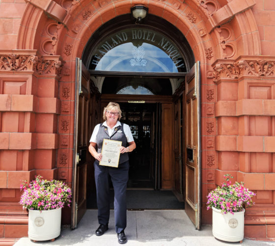 Concierge Sarah Gaskin, who has been accepted into Les Clefs d'Or The Headland Hotel