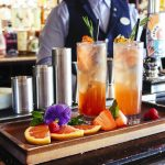 Pimms served at The Terrace bar