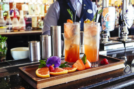 Pimms served at The Terrace bar The Headland Hotel