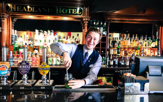 The Terrace bar at The Headland Hotel The Headland Hotel