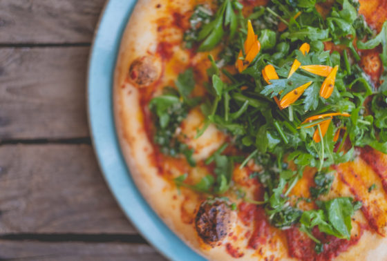 Wood fired pizza at Una Kitchen Lee Searle