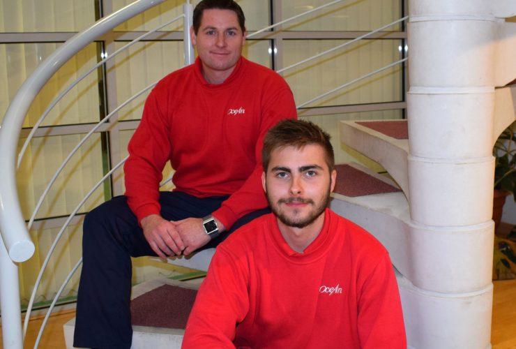 Ocean Housing Group apprentices, Mike Barnard and Brandan Crocker. Ocean Housing