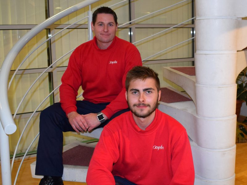 Ocean Housing Group apprentices, Mike Barnard and Brandan Crocker. Ocean Housing