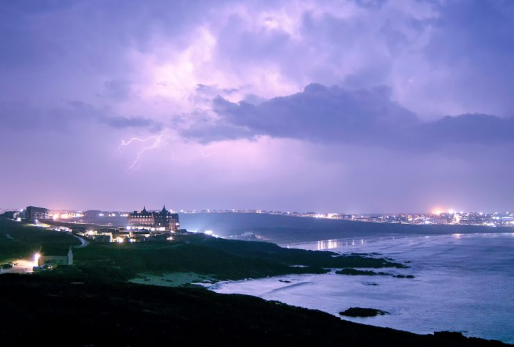 Storm watching breaks at The Headland