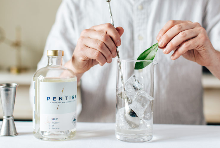 Mixing a Pentire and tonic. Pentire;Jack Beavan and Ben Pryor