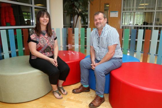 Ocean Housing's new welfare advisers, Louise Brown and Simon Griffiths. Ocean Housing