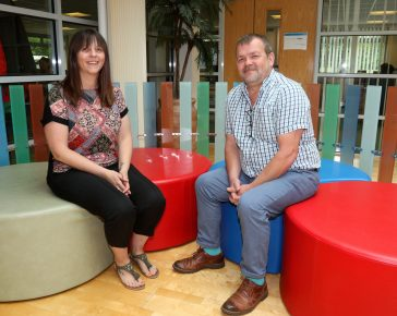 Ocean Housing's new welfare advisers, Louise Brown and Simon Griffiths. Ocean Housing