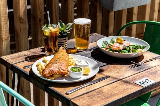 The new family friendly beer garden at The Rosendale, West Dulwich Three Cheers Pub Co