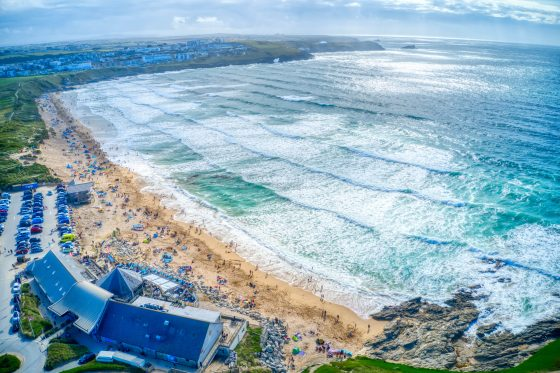 The view of Fistral Beach from The Headland The Headland Hotel