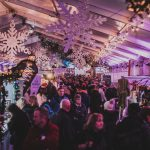 The market at Padstow Christmas Festival 2019