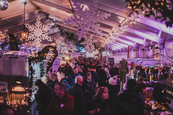 The market at Padstow Christmas Festival 2019 Adam Sargent