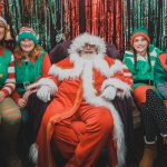 Santa and some elves at the grotto from Padstow Christmas Festival 2019