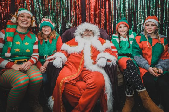 Santa and some elves at the grotto from Padstow Christmas Festival 2019 Adam Sargent