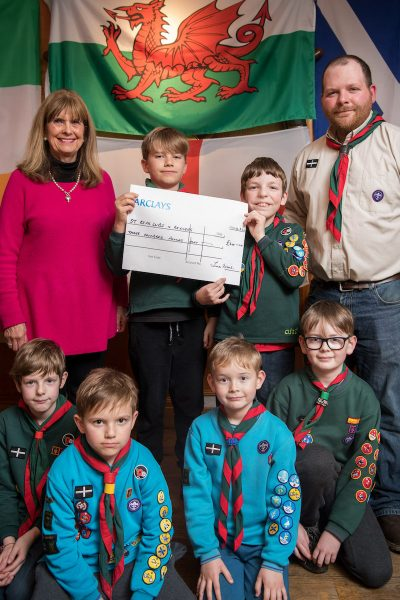 Padstow scout group benefits from Padstow Christmas Festival Padstow Christmas Festival