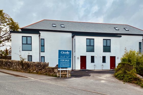 New three-bedroomed family homes available for shared ownership in Nanpean. Gilbert & Goode