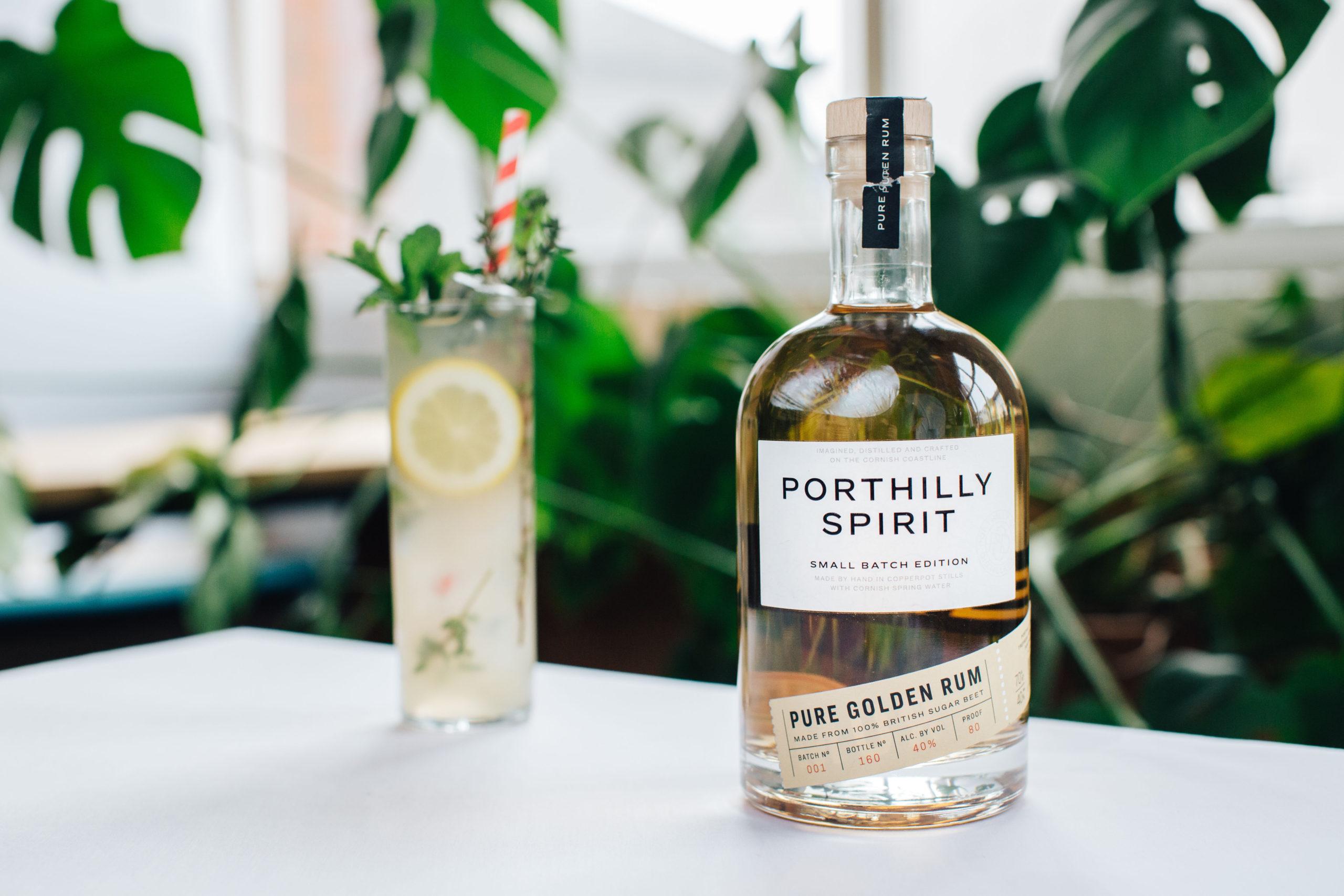 Porthilly Spirit Distillery rum and apple herbal.
