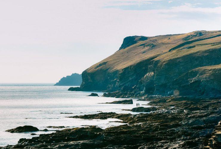 Pentire headland and the cliffs along the Atlantic coast