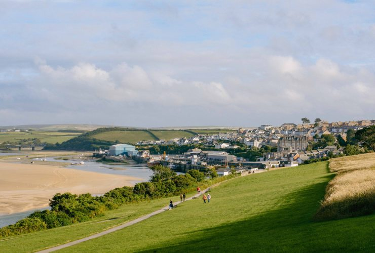 Overlooking the harbour town Padstow