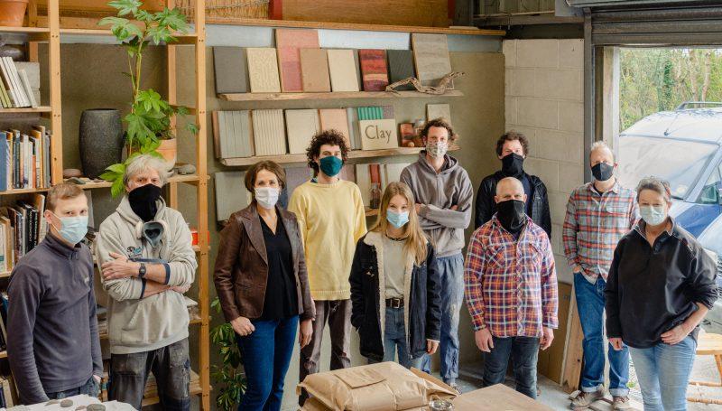 Team of people in a workshop.
