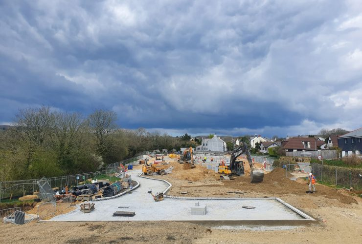 Affordable homes being built in Trewoon, Cornwall