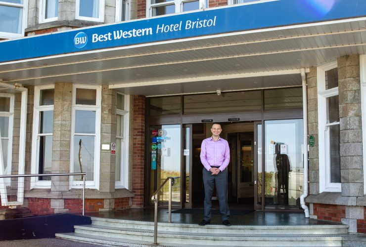 The Hotel Bristol manager stood outside the front